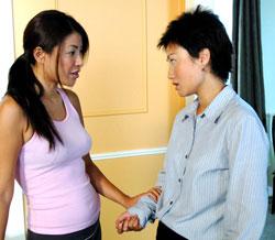 asian lesbian couple