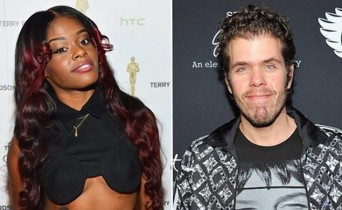 Rapper Azealia Banks and Perez Hilton