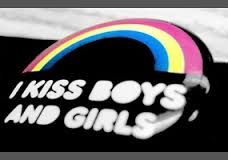 """I kiss boys and girls"" bisexual rainbow"