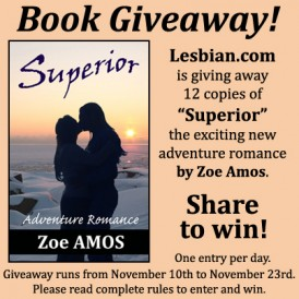 Zoe Amos Superior Book Giveaway