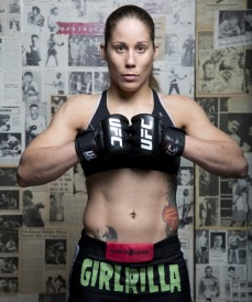 "Liz Carmouche in her ""Girl-illa"" shorts."
