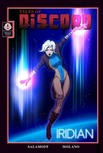 Lesbian comic superhero Iridian