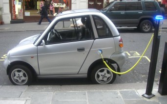 Small electric car charging