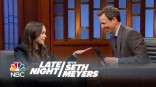 Ellen Page on 'Late Night with Seth Meyers'