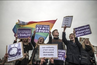 French pro-LGBT activists
