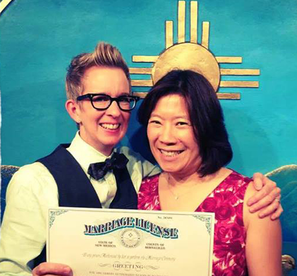 New Mexico lesbian couple (Photo: Freedom to Marry)