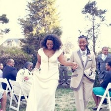 A gorgeous couple getting hitched in the DC-area