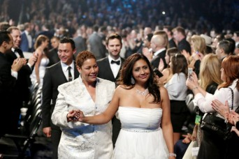 Mass wedding ceremony at Grammys