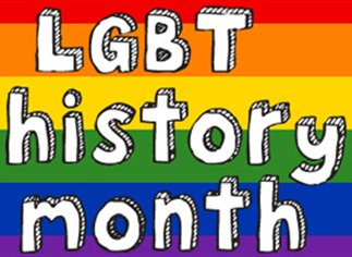 LGBT history month on rainbow flag