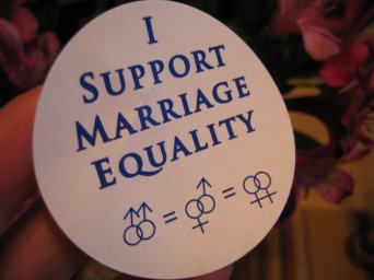 I support marriage equality button