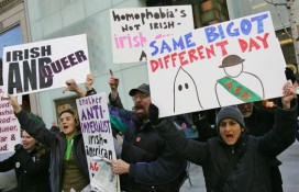 This Friday, March 17, 2006 file photo, shows members of the Irish-American LGBT community protesting in NYC. (Photo: AP/Dima Gavrysh)