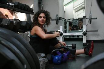 Jessica Rothschild at the gym