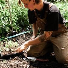 Transwoman gardening