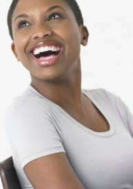 woman smiling and laughing