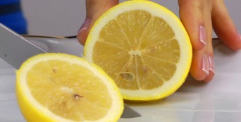Lemon sliced in half
