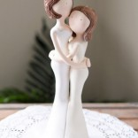 Lesbian cake topper with two brides in long gowns