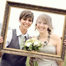 Lesbian wedding fashion