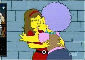 lesbian kiss on the simpsons