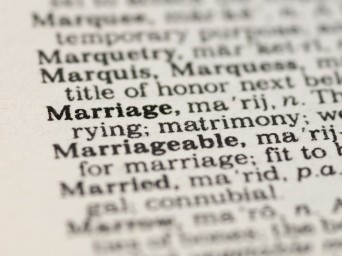 Oxford Dictionary Marriage