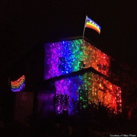 The elaborate rainbow light display (Photo courtesy Mary Pham)