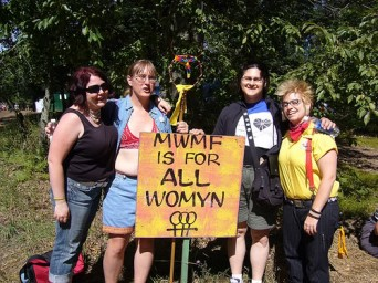 Lorraine Donaldson, Camp Trans organizers, and Yellow Armbands, 2006