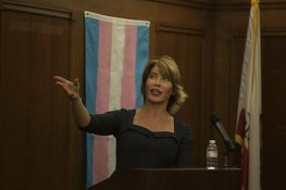Michaela Mendelsohn gives the keynote speech during the first annual Transgender Day of Remembrance held in Ventura Friday evening.