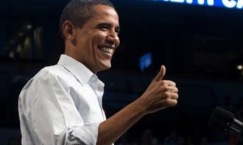 Obama gives thumbs up