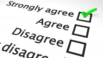 Survey question responses