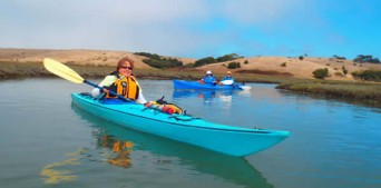 Women kayakers out on the waters with Blue Water Ventures