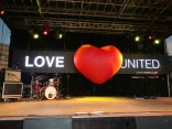 Love United sign at worldOutgames III