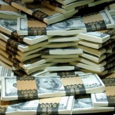 Piles of money