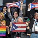 LGBT Puerto Ricans with flags