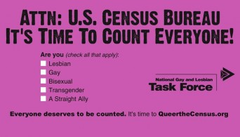 Queer the Census sticker