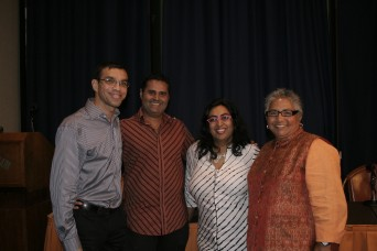 """Spice of Life: Growing Up Queer in India"" panelists (l to r) Devesh Khatu, Rakesh Modi, Minal Hajratwala and Dipti Gosh at the Commonwealth Club in San Francisco on August 17, 2011. (Photo: Super G)"