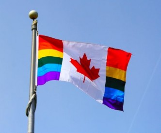 rainbow Canadian flag