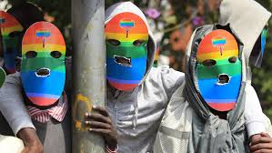 Kenyan supporters of LGBT rights protest Uganda's anti-gay laws in Nairobi, Kenya (Photo: Dai Kurokawa / EPA)