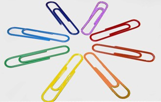 rainbow paper clips, LGBT workplace