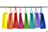 rainbow shopping bags