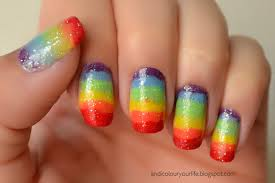 rainbow fingernails