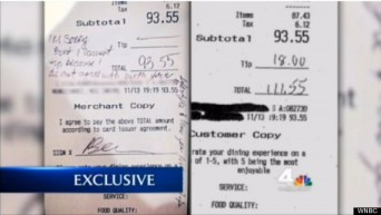 Side by side images of the receipts.