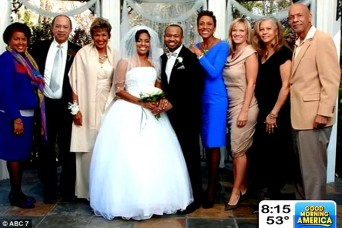 Robin Roberts and Amber Laign at family wedding