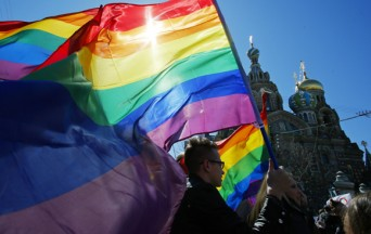 Russian Gay Rights Rally