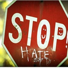 No Hate Stop Sign