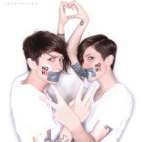 Tegan and Sara pose for NOH8.