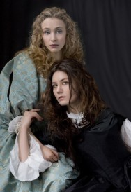 Malin Buska as Queen Kristina alongside Sarah Gadon as Kristina's love interest, Ebba Sparre