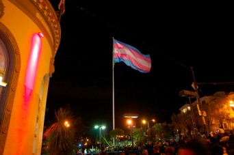 Trans* flag in the Castro/SF
