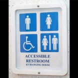 Transgender/accessible washroom