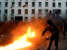 Fires in Kiev