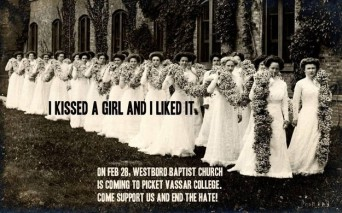 Image used by Vassar students to counter-protest the Westboro Baptist Church