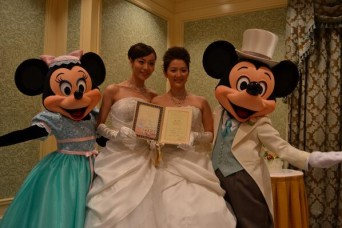 First lesbian couple weds at Tokyo Disneyland
